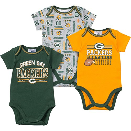 Green Bay Packers Baby Infant 3 Piece Bodysuit Creeper