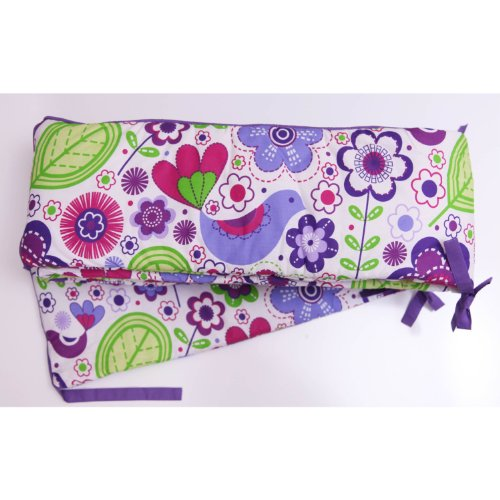 Botanical Purple Bumper Pad