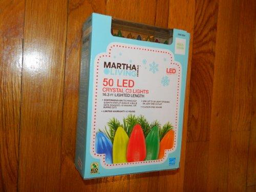 Martha Stewart Living Multicolor Led C3 Crystal 50-Light Set