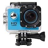 COOLER-Videocámara de Acción SJ4000 - 12MP, HD, 1080P, Gran Angular, Sumergible hasta 30m, Incluye múltiples accesorios Cámara(azul)