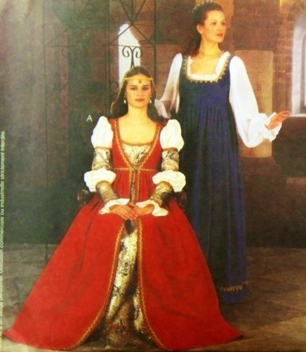 McCall's 2806 or P477 Renaissance Gown, Overdress, Costume Pattern, Size 18 to 22