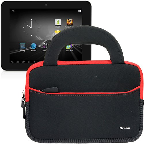 Evecase Ultraportable Handle Carrying Portfolio Neoprene Sleeve Case Bag For Digital Reins 7- Inch X2 Android 4.2.2 (Jelly Bean) Tablet Pc / D2 7-Inch Tablet