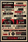 Framed Fight Club - 8 Rules Infographic Movie 24x36 Wood Framed Poster Art Print