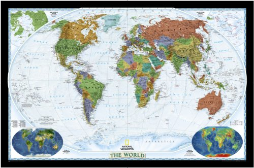 World Decorator Wall Map Enlarged & Laminated (World Maps)
