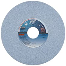 "Norton 5SG Vitrified Toolroom Abrasive Wheel, Type 1 Straight, Ceramic Aluminum Oxide, 1-1/4"" Arbor, 7"" Diameter, 1/2"" Thickness, 46-I Grit (Pack of 1)"
