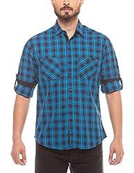 Prym Men's Casual Shirt (8907423015173_2011510203_Medium_Blue)