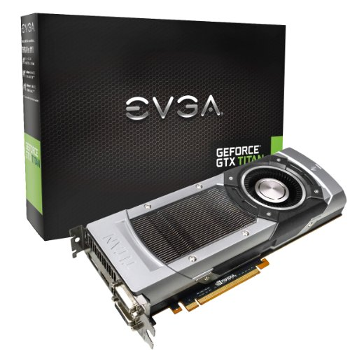 EVGA GeForce GTX TITAN 6GB GDDR5 384bit, Dual-Link DVI-I, DVI-D, HDMI,DP, SLI Ready Graphics Card