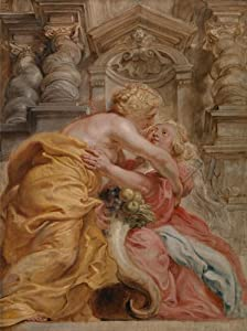 Classic Art Poster - Peace Embracing Plenty by Sir Peter Paul Rubens 24 X 18