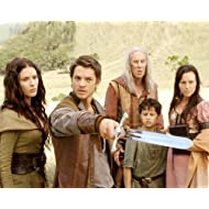 Bridget Regan de Kahlan Amnell et Bruce Spence de Zeddicus Zu'l Zorander in Legend of the Seeker 25x20cm Photo...