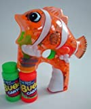 Cartoon Fish Bubble Gun - 4 LED Lights + 2 Bottles of Solution (Batteries Included!)