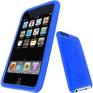 igadgitz Silikon Hülle Etui Case Schutzhülle Tasche in Blau für Apple iPod Touch 2G 2. Gen & 3G 3. Gen Generation 8gb, 16gb, 32gb & 64gb + Display Schutzfolie