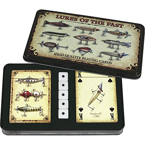Rivers Edge Products Antique Lure Playing Cards In Gift Tin (Lids Gift Cards Store compare prices)