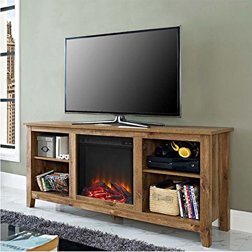 58 in. TV Stand in Barn Wood Finish