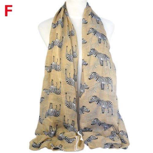 Zebra pattern animal fashion summer women scarf
