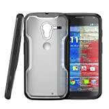 SUPCASE Motorola Moto X Phone Unicorn Beetle Hybrid Case - Clear/Black, Free HD Clear Screen Protector, Bubble Free Installation Instruction Included