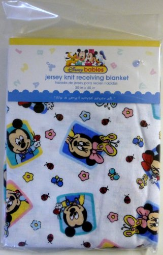 Disney Babies Mickey Mouse Jersey Knit Receiving Blanket