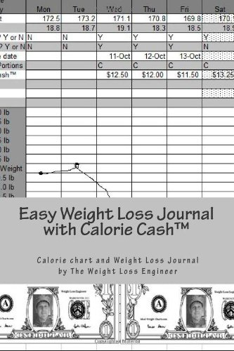 Easy Weight Loss Journal with Calorie Cash(TM): The Easy to Use Calorie Chart and Weight Loss Journal