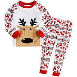 feitong 2pcs infant little boys girls christmas deer t shirt tops pants set 2t amazoncom