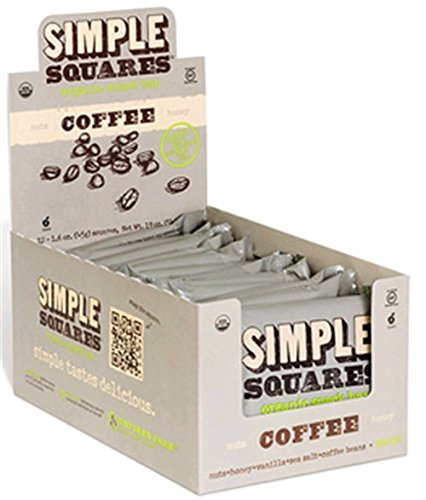 Simple Square Organic Bar, Coffee, 12 Count