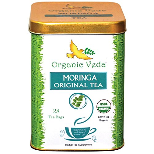 Organic Moringa Premium Original Tea (24 Tea Bags). Organic Blend Of Exotic Moringa Leaf And Calming Lemongrass. Usda Certified Organic. All Natural!