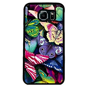 Urbanzone Multi color Butterfly printed Mobile back Case and cover for Samsung S6 Edge - Colorful