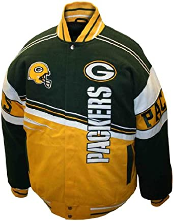 NFL Mens Green Bay Packers 1st and 10 Cotton Twill Jacket by MTC Marketing, Inc