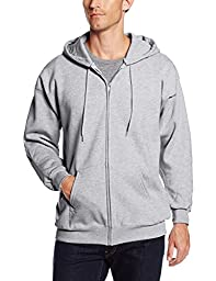 Hanes Men\'s Full Zip Ultimate Heavyweight Fleece Hoodie, Light Steel, Medium