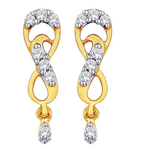 Sangini Sangini 18K Yellow Gold Diamond Stud Earrings (Multicolor)