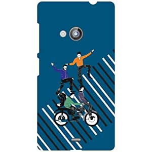 Nokia Lumia 535 Bad Fall Matte Finish Phone Cover - Matte Finish Phone Cover