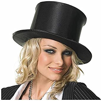 Satin Pop-Up Top Hat Costume Accessory