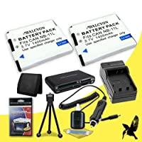 Two Halcyon 1400 mAH Lithium Ion Replacement NB-11L Battery and Charger Kit + Memory Card Wallet + SDHC Card USB Reader + Deluxe Starter Kit for Canon Elph 115 HS, Elph 130 HS, Elph 320 HS, Elph 110 HS Canon PowerShot A2500, A2600, A2300, A2400 IS, A3400, A4000 IS, Canon Ixus 125 HS, 240 HS Digital Cameras and Canon NB-11L