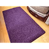 Purple Machine Washable Thick Soft Shaggy Rug. Available in 4 Sizes. (66cm x 120cm)