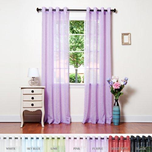 Purple Sheer Curtains