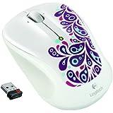 Logitech 910-003007 Wireless Mouse M325 Souris sans-fil Blanc Paisley