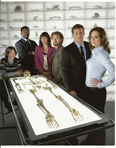 Bones David Boreanaz And Cast In Exam Room With Skeleton On Light Table 8 X 10 Photo front-1061161