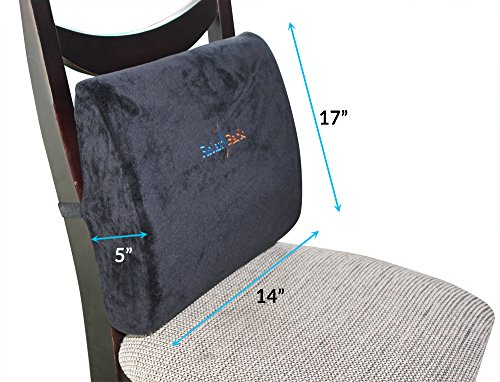 relax back lower back pillow lumbar support cushion for low back pain relief sciatica. Black Bedroom Furniture Sets. Home Design Ideas