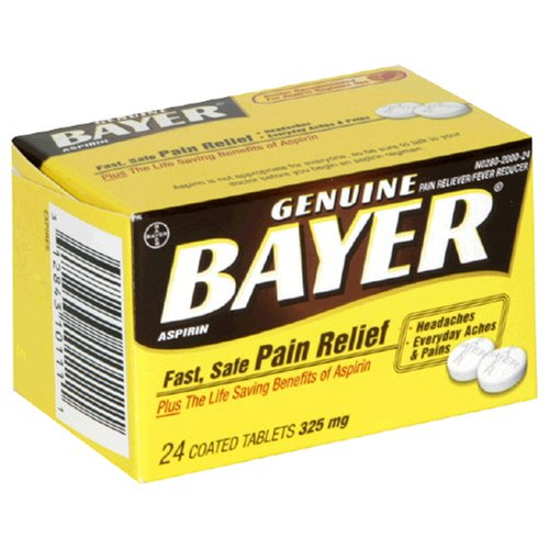 Buy Bayer Tablets, Aspirin Pain Reliever- 325mg- 24 each (Bayer, Health & Personal Care, Products, Health Care, Pain Relievers, Aspirin)