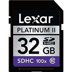 Lexar Platinum II 32 GB 100x SDHC Flash Memory Card LSD32GBSBNA100
