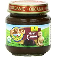 12-Pack Earth's Best Organic Stage 1 Prunes 2.5 Ounce Jar