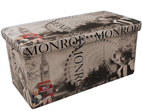 new-designer-marilyn-monroe-double-seat-pu-faux-printed-leather-type-folding-ottoman