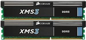 Corsair XMS3 8GB (2x4GB) DDR3 1333 MHz (PC3 10666) Desktop Arbeitsspeicher (CMX8GX3M2A1333C9)