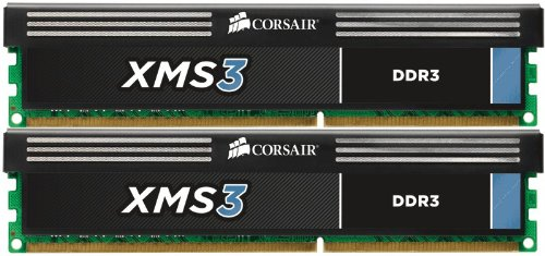 Corsair XMS3 8 GB (2 x 4GB) 1333 MHz PC3-10666 240-Pin DDR3 Memory Kit CMX8GX3M2A1333C9