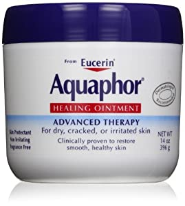 Aquaphor Healing Ointment Dry, Cracked and Irritated Skin Protectant, Pack of 4