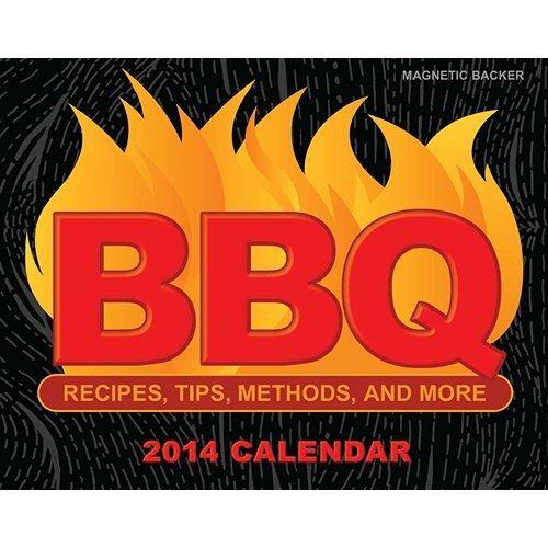 2014 BBQ Recipes, Tips, Methods & More Mini Desk/ Box Calendar (With Magnetic Backer)