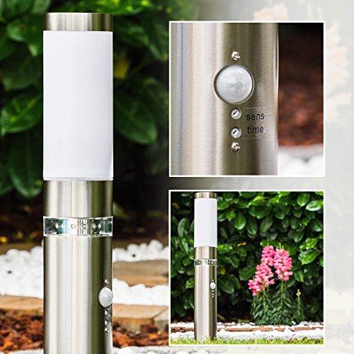 Auensockelleuchte-Avize-aus-Edelstahl-mit-Bewegungsmelder-und-LED-Kranz