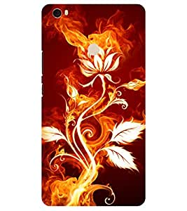 Chiraiyaa Designer Printed Premium Back Cover Case for Xiaomi Mi Max (flower fire awesome) (Multicolor)