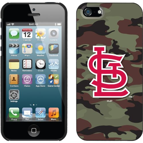 Special Sale St. Louis Cardinals - Traditional Camo design on a Black iPhone 5 Thinshield Snap-On Case by Coveroo