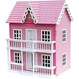 Puppenhaus Holzpuppenhaus mit 20tlg. Möbel Eslem AT-1006