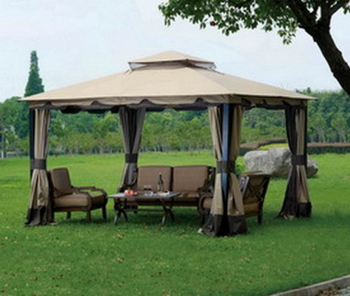 Replacement canopy set for big lots monterey gazebo for Outdoor furniture gazebo