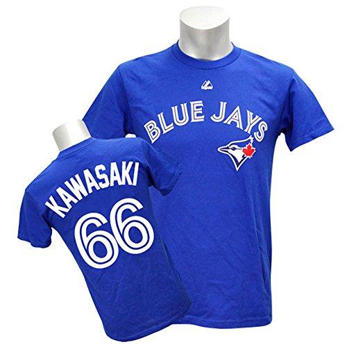Majestic(マジェスティック) MLB トロント・ブルージェイズ 川崎宗則 Tシャツ Player Tee (ブルー) - M